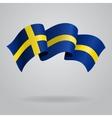 Swedish waving Flag vector image