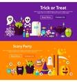 Halloween Party Website Banners vector image