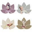 yoga poses set vector image