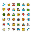 navigation online store and business icons vector image
