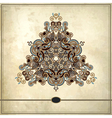 triangle ornament design on grunge background vector image