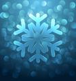 Glass snowflake vector image