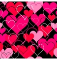 Hearts pink seamless Background vector image vector image