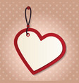 heart tag vector image