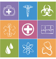 Colored medical icons vector image