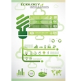ecology infographics icons collection vector image