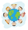 Kids save the earth vector image