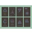 modern creative neon cards vector image