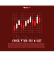 Candlestick bars vector image