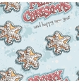 Christmas and New Year seamless texture with vector image