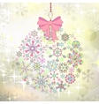 Christmas card with ball of colorful stylized vector image