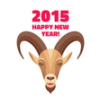 Goat - Merry Christmas and Happy New Year 2015 vector image