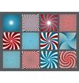 retro vintage hypnotic background set vector image