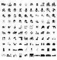100 house simple icons vector image