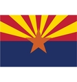 Arizona flag vector image