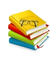 Books and glasses vector image vector image