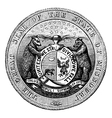 Seal of the State of Missouri vintage engraving vector image vector image