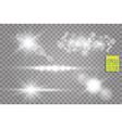 transparent sunlight lens flare light effect star vector image