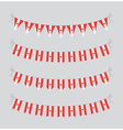 canadian bunting vector image