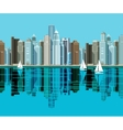 Big city Skyscrapers stand on the beach and vector image