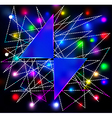 Abstract background with two triangles for the tex vector