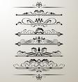 decorative page design element vector image vector image