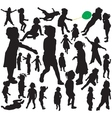 little girl silhouettes vector image vector image