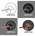 Dog Logo with Color Variations vector image