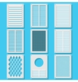 vertical ventilation shutters vector image