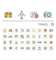 Travel and tourism color icons vector image vector image
