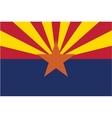 Arizona flag vector image