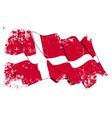 Denmark Flag Grunge vector image