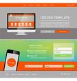 Landing page web vector image