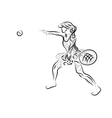 playing tennis vector image