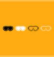 ski goggles it is white icon vector image