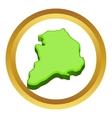 South Korea map icon vector image
