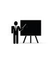 teacher front schoolboard black vector image