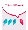 think different pink bird sitting on a wire among vector image