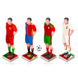 world cup soccer team vector image