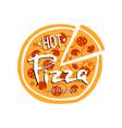 pizza logo on white background vector image