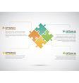 Puzzle piece infographics business vector image