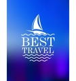 Yachting symbol with travel header vector image