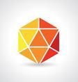 3d Geometric object vector image