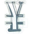 Abstract Yen sign vector image vector image