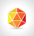 3d Geometric object vector image vector image