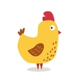 Cute cartoon chicken vector image