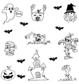 Doodle of Halloween character flat vector image