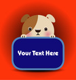 Baby dog with place your text here vector image