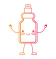kawaii cartoon detergent bottle in degraded yellow vector image
