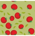Red tomato seamless texture 561 vector image